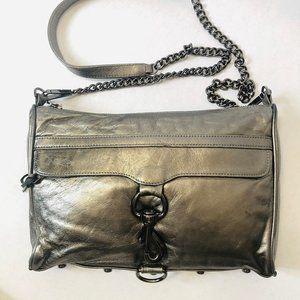 Rebecca Minkoff Mini Mac Crossbody Bag Silver